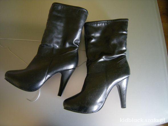 czarne botki 39