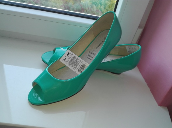 Buty peep toe z odkrytym palcem mietowe turkusowe