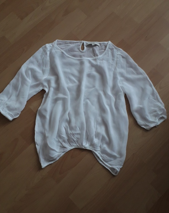 elegancka biała bluzka...