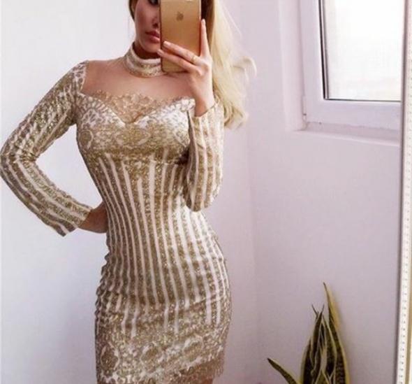 Wyjątkowa złota sukienka