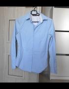 Zara błękitna elegancka koszula guziki...