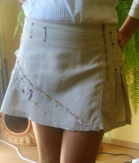 Spódnice Lniana mini spódniczka