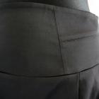 Elegancka czarna spódnica z szerokim pasem 40