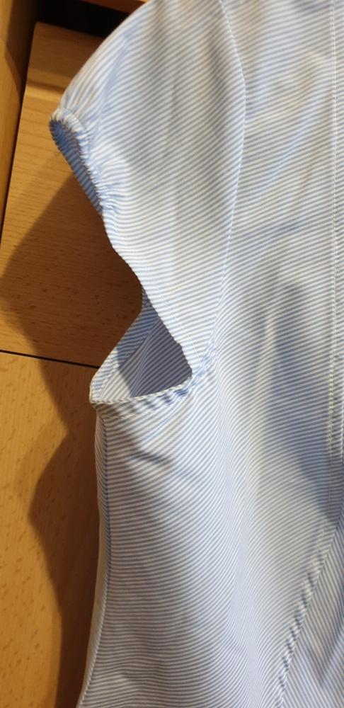 Bluzki biało niebieska bluzka