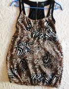 Sukienka bombka 34 Amisu zwierzęce wzory...