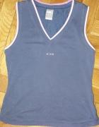 Granatowa koszulka Nike FitDry M Fitness sport...