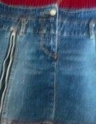 Jeansowa mini spódniczka biodrówka...