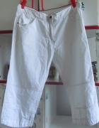 Białe letnie spodnie w rozmiarze 42