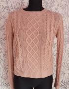 Sweter z warkoczami S...