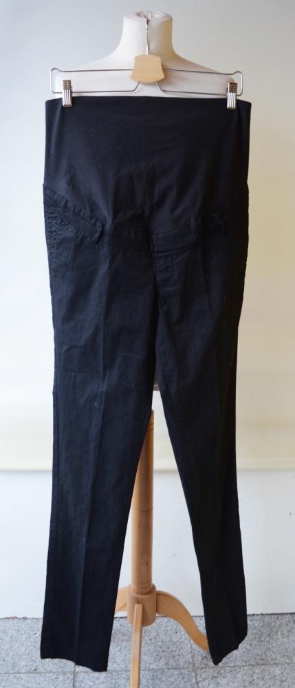 Spodnie H&M Mama Czarne Eleganckie L 40 Wizytowe