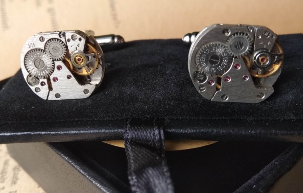 spinki do mankietów mechanizmy zegarki rubiny stea