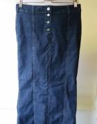 Spódniczka Dzinsowa Armani Jeans L 40 Long Długa...