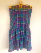 Sukienka kratka kolorowa gorsetowa letnia XS S M 6...