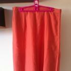 Brzoskwiniowa pomarańczowa spódnica długa eleganck