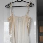Bershka sukienka cekinowa biała sylwester impreza