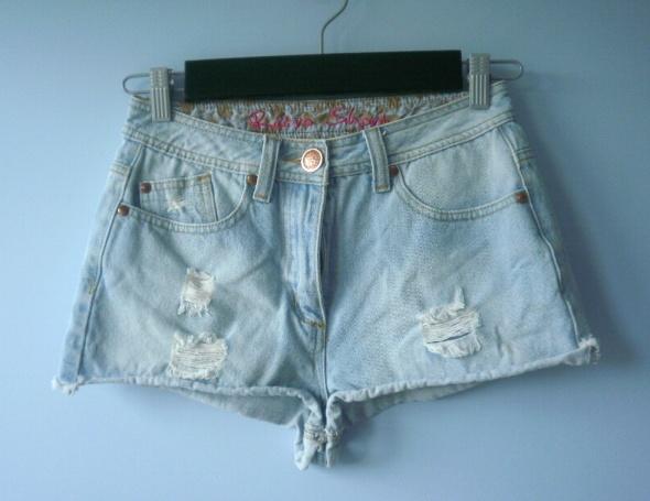 Spodenki Denim high waist szorty spodenki jeans jeansowe