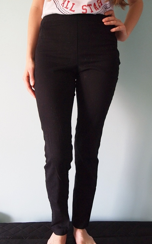 Czarne spodnie z wysokim stanem H&M 34 XS 36 S