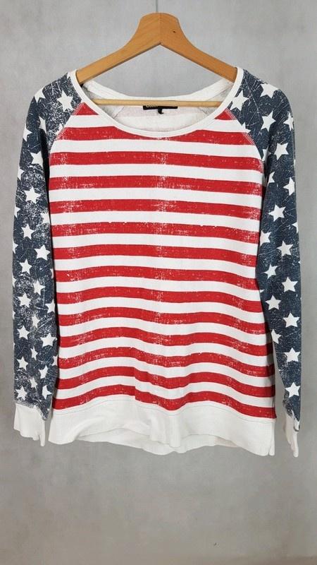 Bluzy Bluza flaga amerykańska cubus oversize m