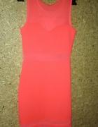 Różowa neonowa sexi sukienka mini 34 36...