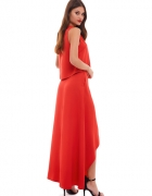 Czerwona dwuczęściowa sukienka Sugarfree XS 34
