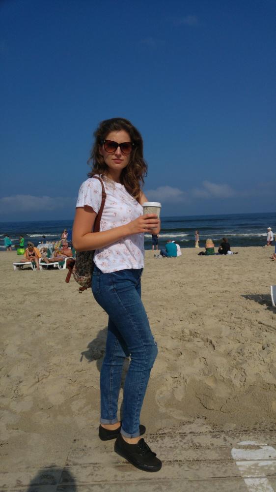 Codzienne idę na plażę