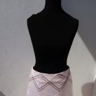 Spódnica pudrowy róż S