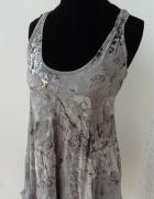Delikatna zwiewna sukienka River Island fale woda wzór XS...