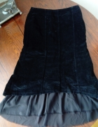 Czarna spódnica aksamit...
