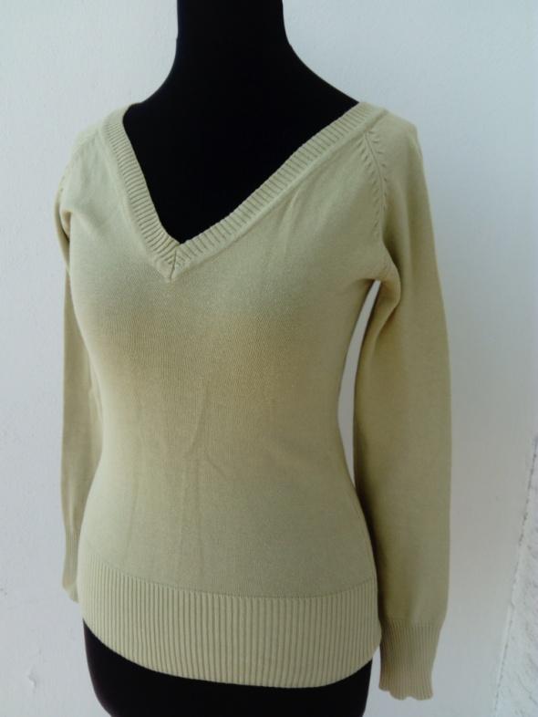 Swetry Pistacjowy sweter bluzka Reserved S