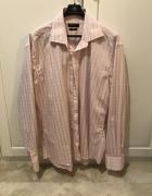 Koszula jasnoróżowa w szarą kratę długi rękaw