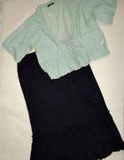 ESSENCE czarna maxi spódnica hafty GRATIS 50 52