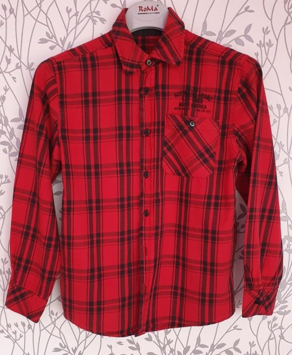 Czerwona koszula chłopięca St Bernard 140