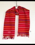 Szalik paski Old Navy kolorowy kolorowe czerwony długi z frędzl...