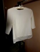 Biała bluzeczka rękaw 3 4 Atmoshopere S 36 eleganc...