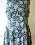 Sukienka H&M Wzory XXL 44 Zielona Paprotka Oversize...