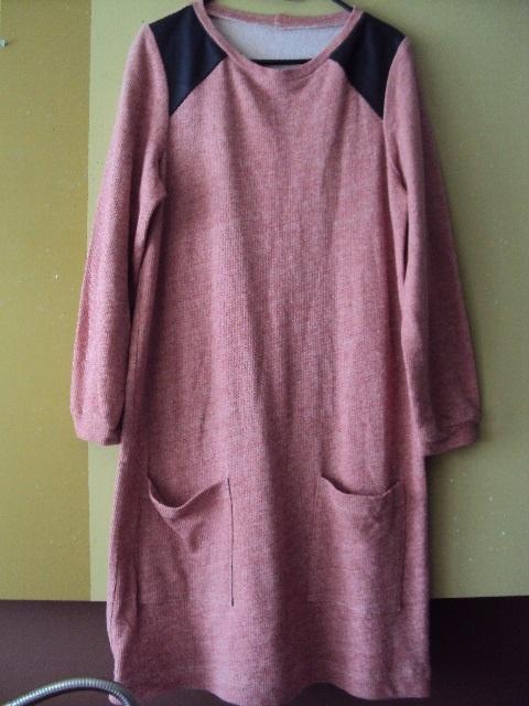 dresowa melanżowa sukienka