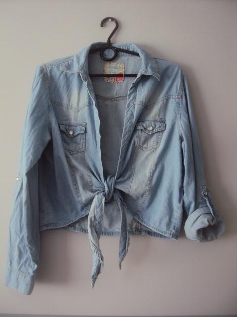 jeansowa wiazana koszula