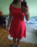 Malinowa sukienka na lato...