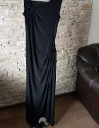Czarna długa sukienka z Paryża...