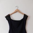 Lipsy czarna bluzeczka z siateczką 36 38