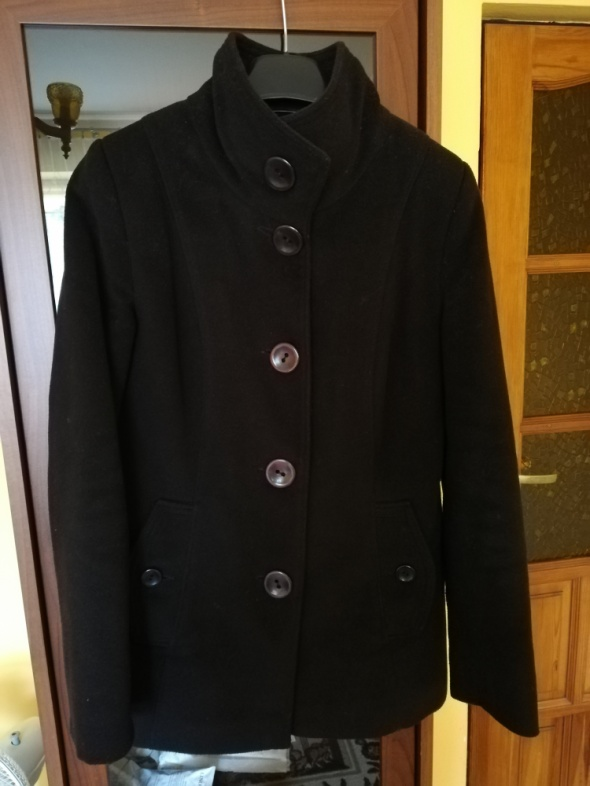 Płaszcz czarny zimowy rozmiar S
