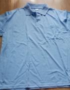 Męska koszulka polo niebieska XXL nowa