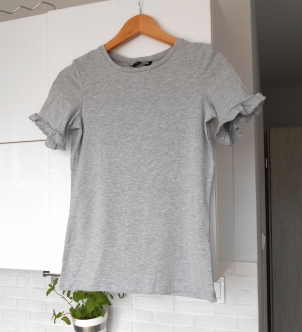 Dorothy Perkins szara koszulka falbanki