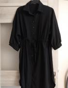 czarna sukienka szmizjerka l xl...