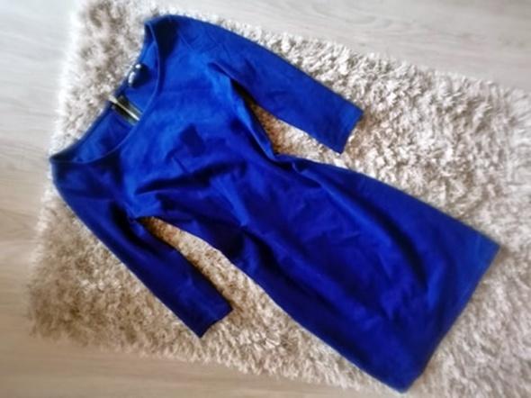 Sukienka niebieska SinSay XS zamek dopasowana slim...
