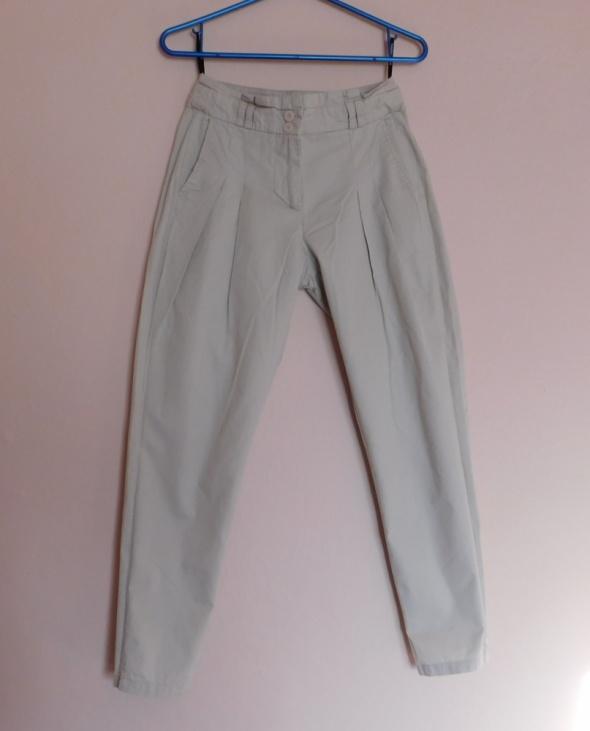 Spodnie Warehouse cygaretki chinos beż ecru 34 36