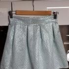 Błekitna rozkloszowana spódnica XS 34