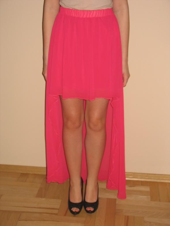 Spódnice Amarantowa asymetryczna spódnica XS 34 S 36