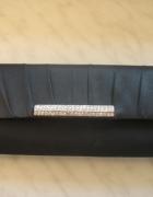Czarna elegancka kopertówka listonoszka cyrkonie...