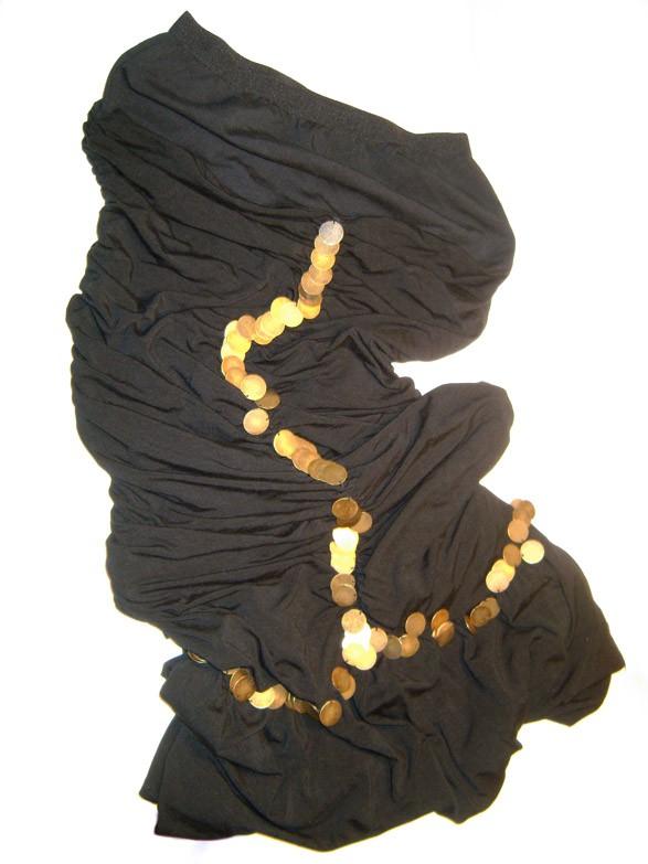 Sukienka hiszpańska falbana monety